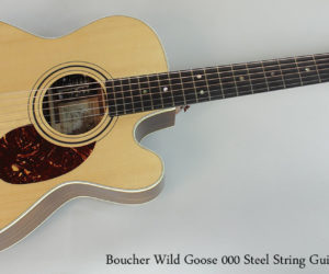 NO LONGER AVAILABLE! 2010 Boucher Wild Goose Cutaway Rosewood