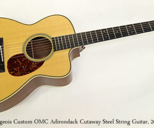SOLD!!! Bourgeois Custom OMC Adirondack Cutaway Steel String Guitar, 2010