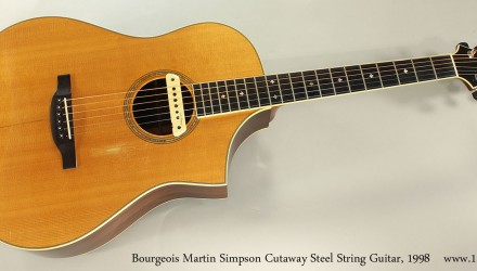 Bourgeois-Martin-Simpson-Cutaway-Steel-String-Guitar-1998-Full-Front-View