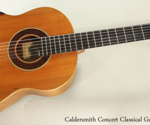 2009 Caldersmith Concert Classical Guitar