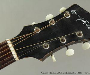 SOLD! !  1930s Carson J. Robison Acoustic