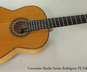 No Longer Available:  Cervantes Rodriguez PE Studio Series Palo Escrito Classical Guitar