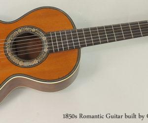 SOLD!  1850s Romantic Guitar built by Coffe, Paris