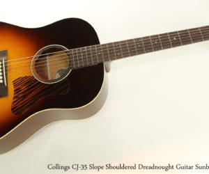 ❌ SOLD ❌  Collings CJ-35 Slope Shouldered Dreadnought Guitar Sunburst, 2014