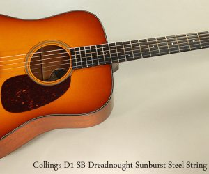 Collings D1 SB Dreadnought Sunburst (SOLD)