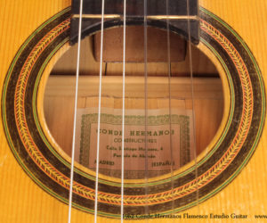 1962 Conde Hermanos Flamenco Estudio Guitar  SOLD