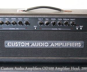 2006 Custom Audio Amplifiers OD100 (SOLD)