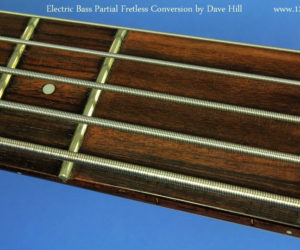 Electric Bass Partial Fretless Conversion