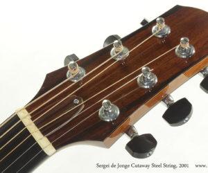 2001 Sergei de Jonge Cutaway Steel String (consignment)  SOLD