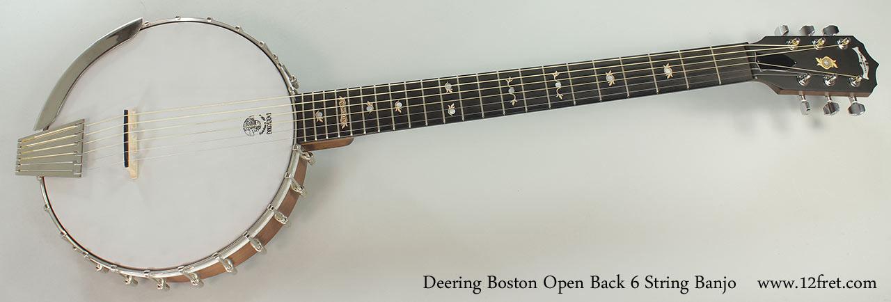 Deering Boston Open Back 6 String Banjo