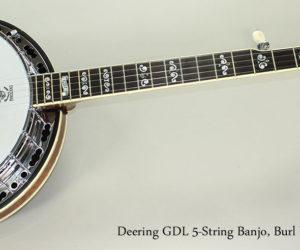 2008 Deering GDL 5-String Banjo, Burl Walnut