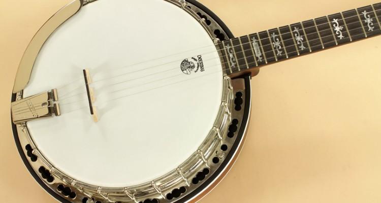 Deering-Sierra-Maple-5-String-Banjo-top