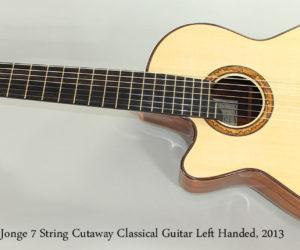 2013 Sergei De Jonge 7 String Classical Guitar Left Handed