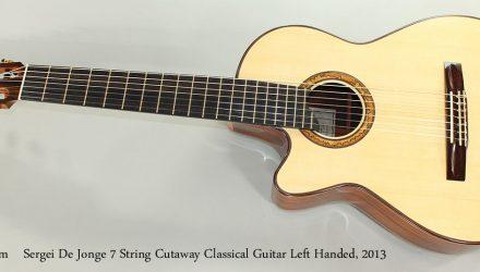 Sergei-De-Jonge-7-String-Cutaway-Classical-Guitar-Left-Handed-2013-Full-Front-View