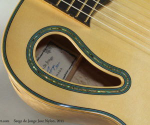 SOLD!!! 2011 Sergei De Jonge Maple Jazz Nylon