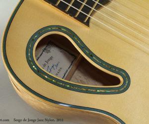 SOLD!!! 2011 Sergei De Jonge Maple Jazz Nylon