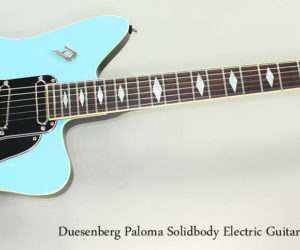 Duesenberg Paloma Solidbody Electric Guitar, Narvik Blue