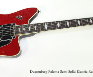 2017 Duesenberg Paloma Semi-Solid Electric Red-Sparkle