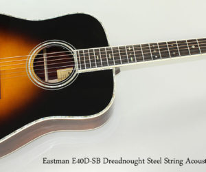Eastman E40D-SB Dreadnought Steel String Acoustic Guitar