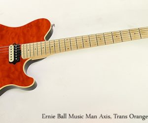 ❌ SOLD ❌ Ernie Ball Music Man Axis Solidbody Guitar, Trans Orange, 2006