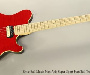 Ernie Ball Music Man Axis Super Sport HardTail Trans Red, 2016