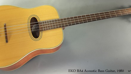 EKO-BA4-Acoustic-Bass-Guitar-1980-Full-Front-View