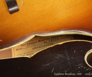 1939 Epiphone Masterbilt Broadway Archtop Guitar (consignment)  SOLD