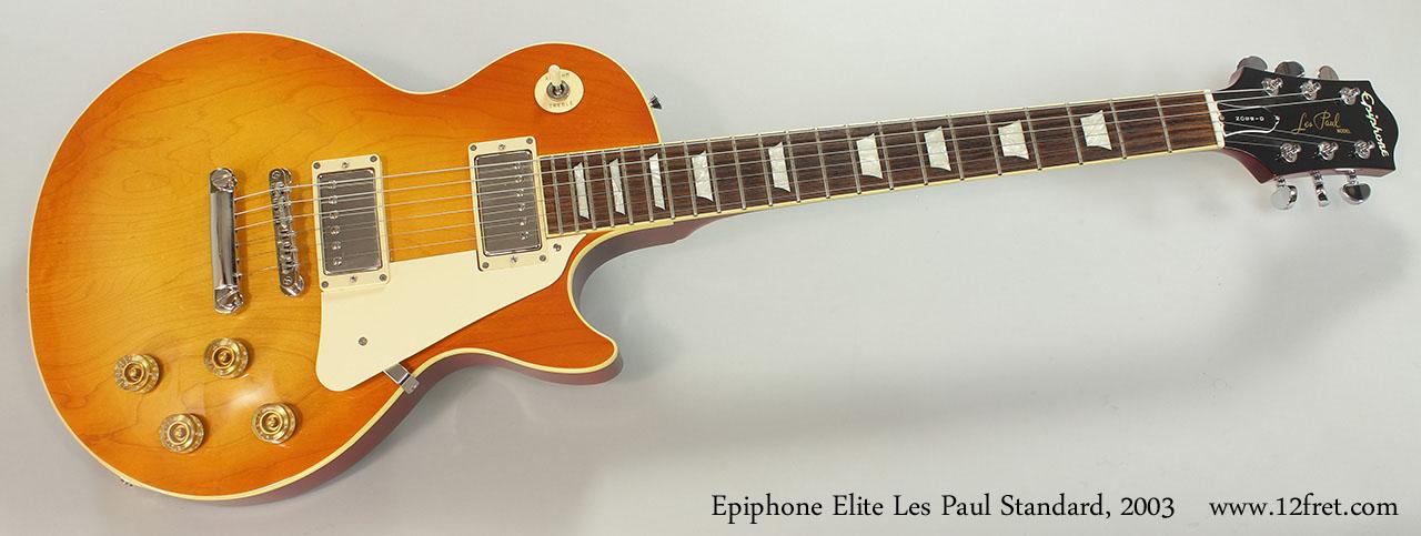 2003 Epiphone Elite Les Paul Standard   www 12fret com