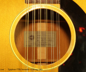 1965 Epiphone FT85 Serenader 12-String Acoustic (NO LONGER AVAILABLE)
