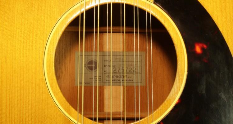 Epiphone-F585-Serenader-12-String-1965-label