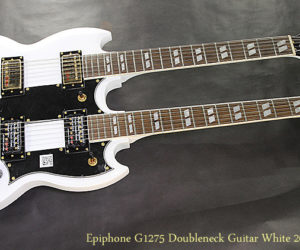 SOLD!!! Epiphone G1275 Doubleneck Guitar White 2015
