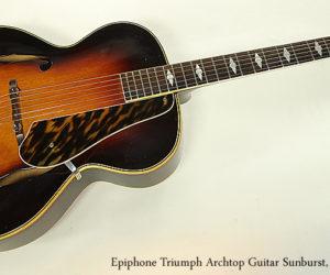 SOLD!!! Epiphone Triumph Archtop Guitar Sunburst, 1941