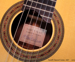 ❌SOLD❌ Gerald Farrell Classical Guitar, 2007