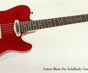 Feiten Blues Pro Solidbody Guitar Red, 2015