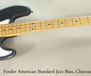 SOLD! 2011 Fender American Standard Jazz Bass Charcoal Metallic