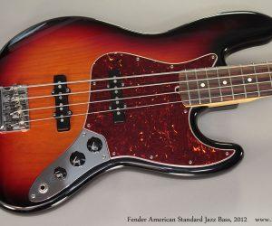 2012 Fender American Standard Jazz Bass (SOLD)