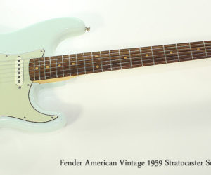 NO LONGER AVAILABLE!!! 2014 Fender American Vintage 1959 Stratocaster Sonic Blue