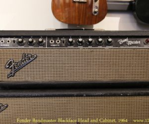 ❌SOLD❌  Fender Bandmaster Blackface Head and Cabinet, 1964 (Discontinued by Fender)
