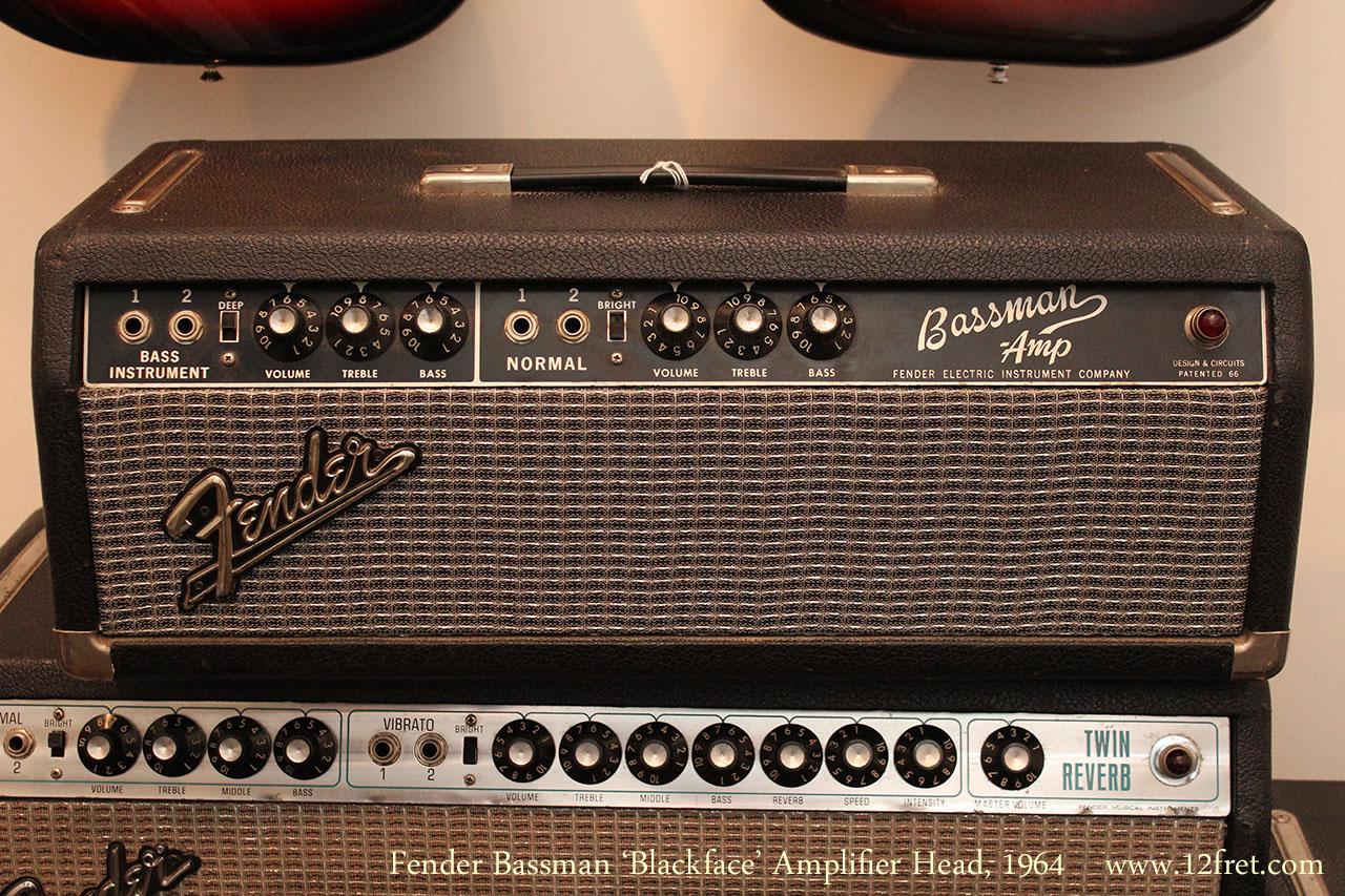 1964 fender bassman 39 blackface 39 amplifier head. Black Bedroom Furniture Sets. Home Design Ideas