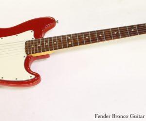 Fender Bronco Guitar Fiesta Red, 1974