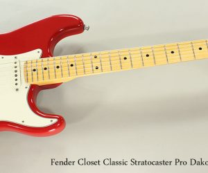 NO LONGER AVAILABLE! 2012 Fender Closet Classic Stratocaster Pro Dakota Red