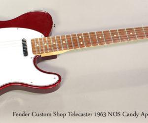 1994 Fender Custom Shop Telecaster 1963 NOS Candy Apple Red SOLD