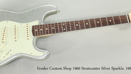 Fender-Custom-Shop-1960-Stratocaster-Silver-Sparkle-1996-Full-Front-View