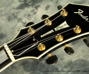 1989 Black Fender DAquisto Elite Archtop (consignment) SOLD