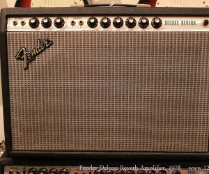 1978 Fender Deluxe Reverb Amplifier  SOLD
