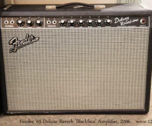 ❌SOLD❌  Fender '65 Deluxe Reverb 'Blackface' Amplifier, 2006