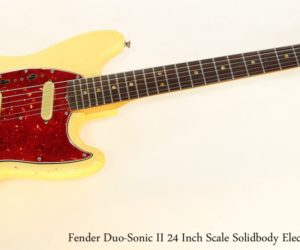 Fender Duo Sonic II 24 Inch Scale Solidbody Electric White, 1966