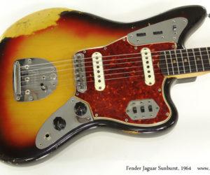 1964 Fender Jaguar Sunburst  (consignment)  SOLD