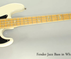 SOLD!  1977 Fender Jazz Bass in White Refinish
