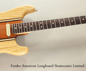 SOLD!!! Fender American Longboard Stratocaster Limited Edition
